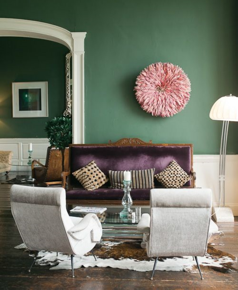 Peacock Colors Living Room Mardi Gras Inspired Home Louisiana Interior Design Niki Landry