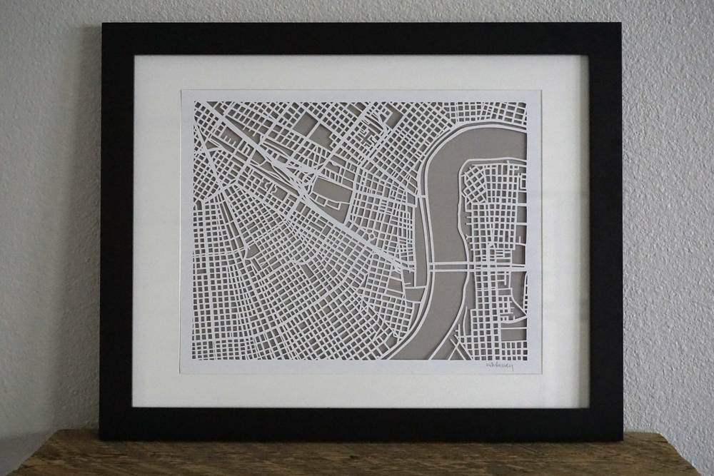 Historic New Orleans Paper Cut