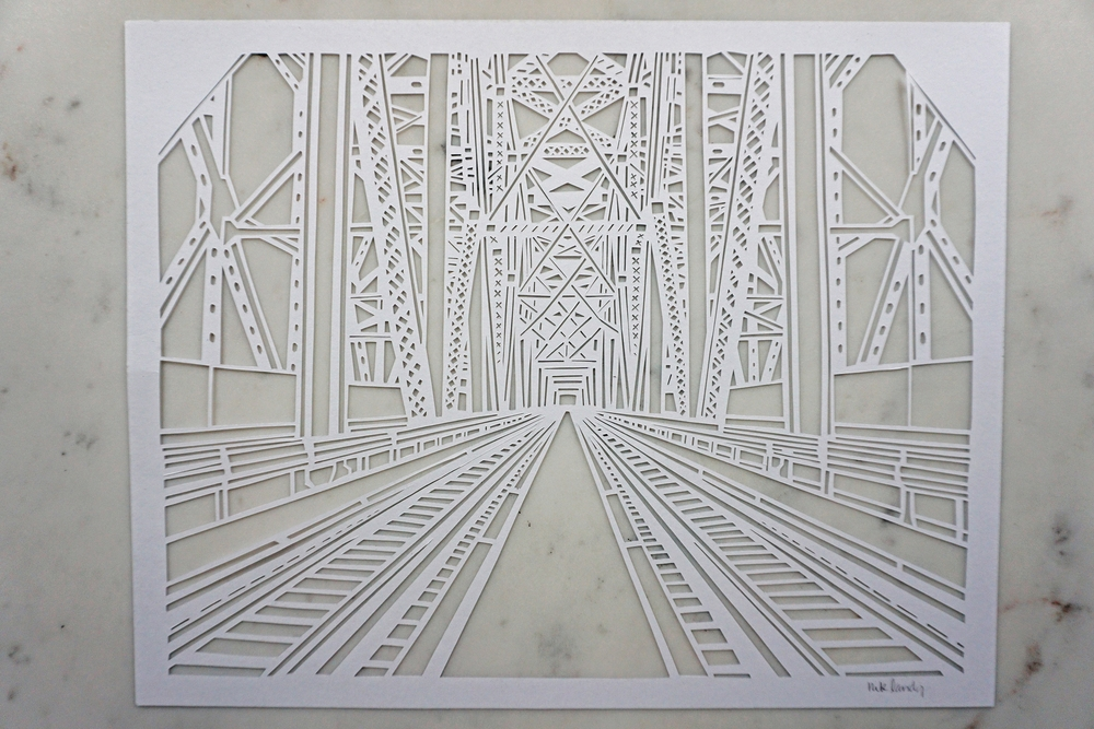 Steel Truss Paper Cut Art