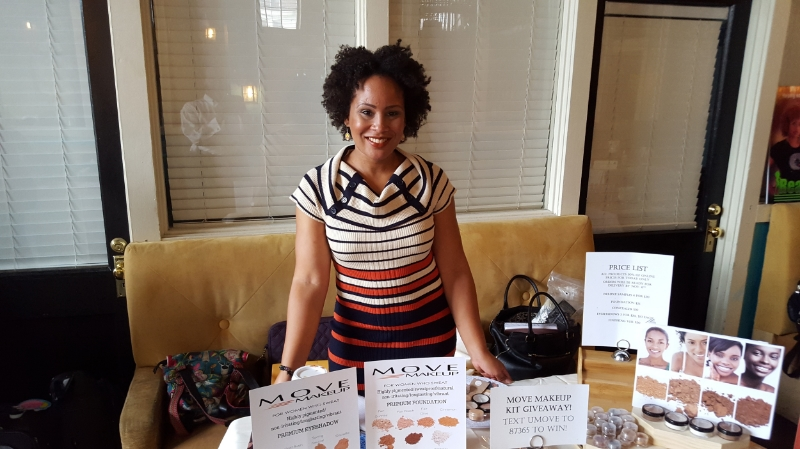Yep, one more event last weekend - presenting and vending at the Naturally Hurd Hair Event on Sunday. It was an outstanding event - sold a lot of makeup and made a ton of connections and got good and exhausted :-D!