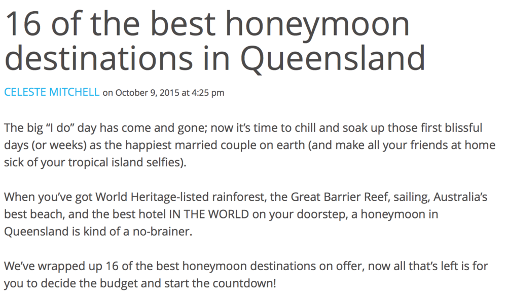 Read more: http://blog.queensland.com/2015/10/09/best-honeymoon-destinations-queensland/