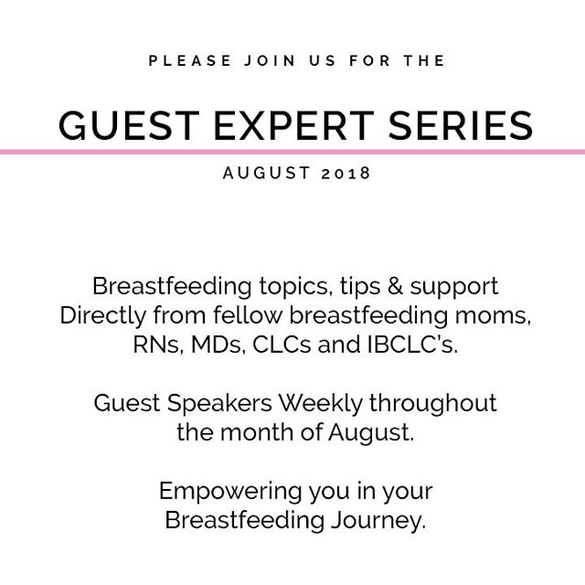 Our Guest Expert Series starts next week, and we are getting so excited! We will be hosting up to two guests a week to help educate, support, and build your confidence as a breastfeeding mom. 🤱 This virtual lecture series is the first of it's kind (we think 😉) and we have lined up some amazing speakers. Tag a mom who might be interested and be sure you're following along too. 😘 . . 📧 Sign up for our mailing list to get the speaker schedule directly in your inbox. . . . #worldbreastfeedingweek #wbw2018 #worldbreastfeedingweek2018 #breastfeedingmom #breastfeedingeducation #breastfeedingawareness #educate #empower #breastfeedwithconfidence #pumpingmama #ipumpmilk #pumpingmom #breastfed #breastfedbabies #breastfeeding #everydropcounts #liquidgold #milkymama #milkmaker #milkmakingmama #liquidlove #youareenough #yougotthis #ipumpmilk #liquidgold