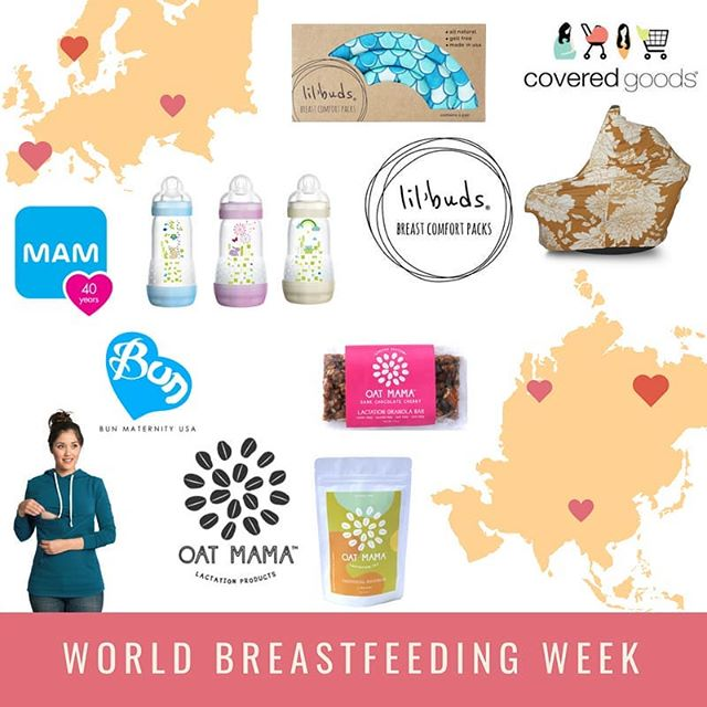 August 1-7 is World Breastfeeding Week and we've partnered with these awesome brands to celebrate all of our breastfeeding mamas!  Entering is easy: 1. Like this post 2. Follow all participating brands (yes, we check!): @coveredgoods @oatmama @lillemer @bun_maternity @mam_usa 3. Tag 2 friends in the comments below 4. Bonus Entry: Share the giveaway image on your Instagram Story and tag all brands!  Giveaway winner will receive:  Covered Goods 4-in-1 Nursing Cover Oatmama $50 Shop Credit  Lil' Buds Breast Comfort Packs Bun Maternity Cozy Nursing Hoodie and Ribbed Nursing Tank Top MAM Anti-Colic Bottles $100 prize package  The winner will be announced on @mam_usa Tuesday 8/7 at 4 PM EST. Good Luck! This is in no way sponsored, administered or associated with Instagram, Inc. No purchase necessary to enter, void where prohibited. A winner is responsible for any applicable taxes and permits the main host to retain the name and address for one year. By entering, entrants confirm they are 18+ year of age, release Instagram of responsibility, and agree to Instagram's term of use. This is open to US residents only.