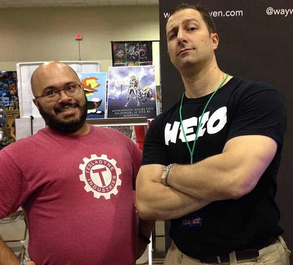 Alexander Sapountzis (left) and Mark Frankel (right) of Wayward Raven Media