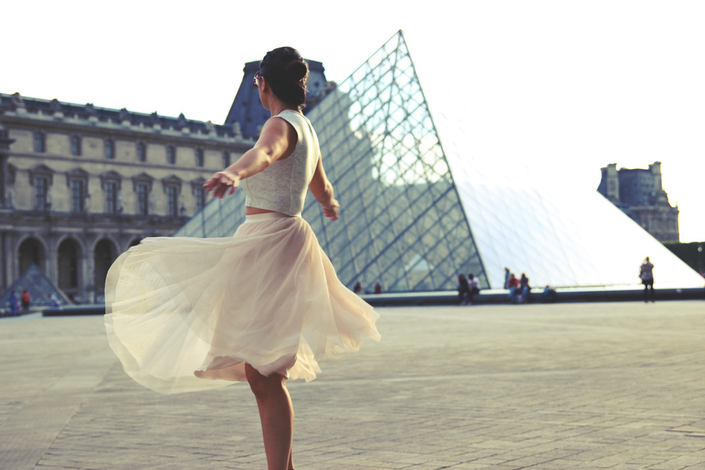 At the Louvre   She always wanted to be a Ballerina