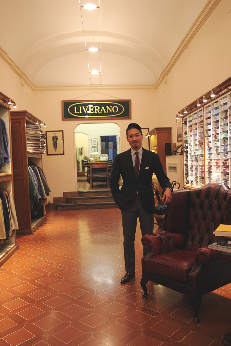 Sartoria The consummate gentleman, Taka, of Liverano & Liverano tailors in Florence