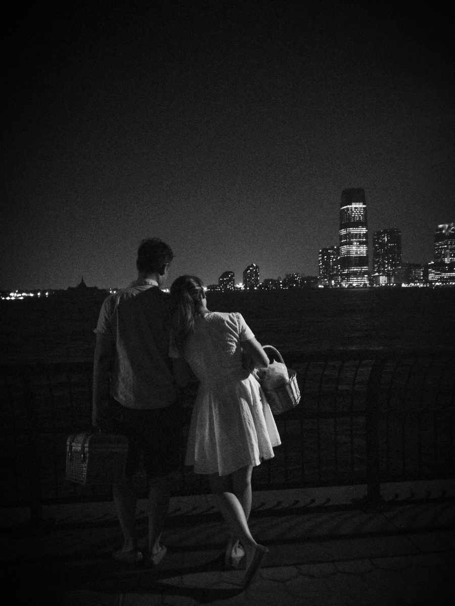 Battery Park City Midnight Picnic by the Hudson River