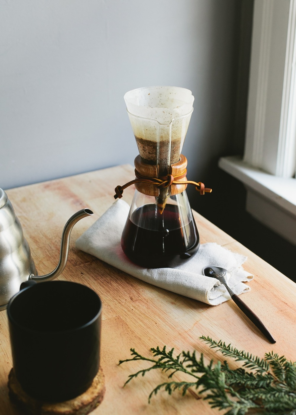 Chemex Pourover Jon's preferred brewing method