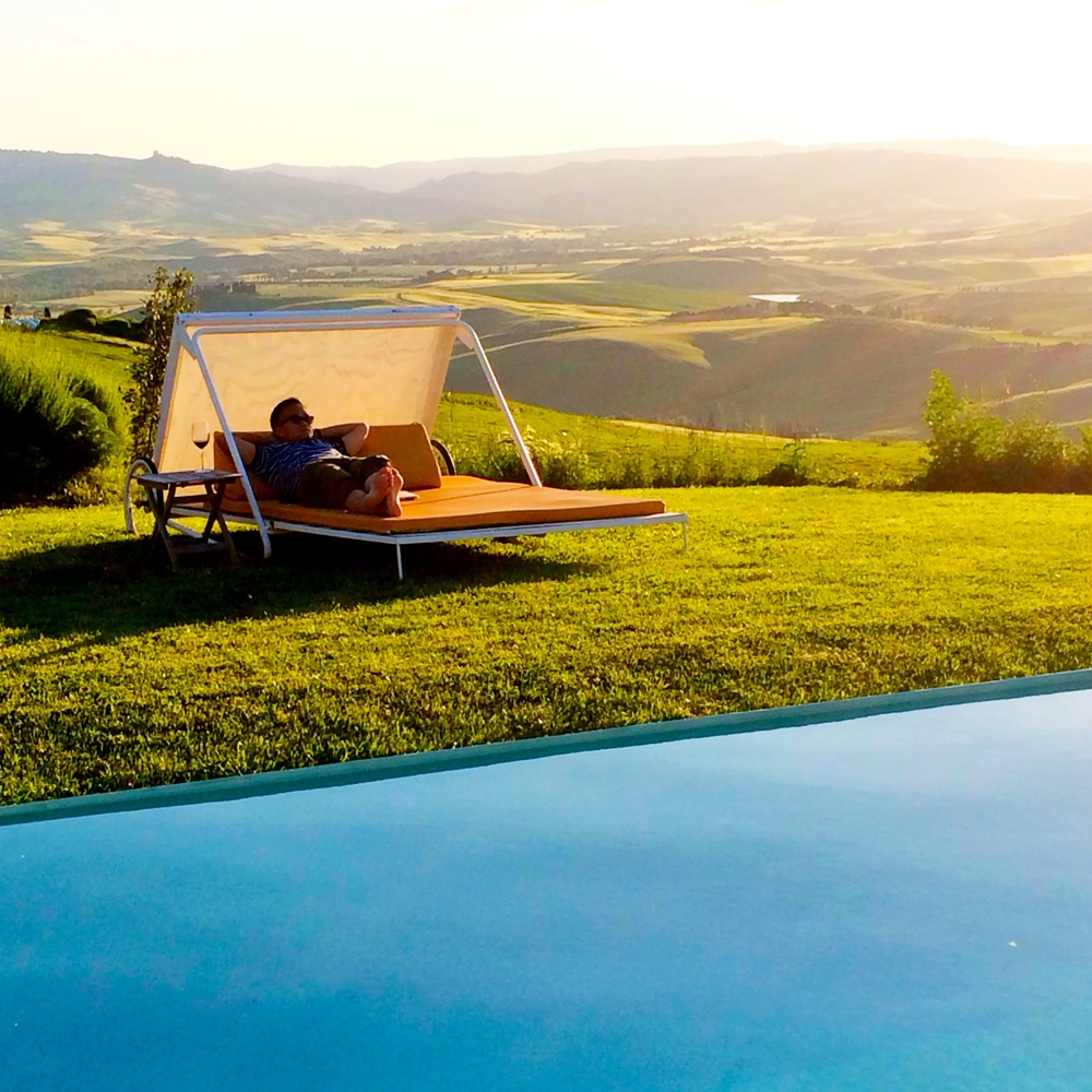 Tuscany  At Villa La Bandita, overlooking the Val D'Orcia