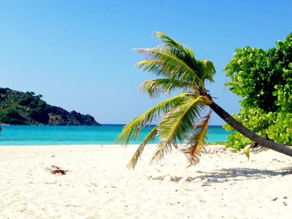 Sandy Spit, BVI Alone on an Island