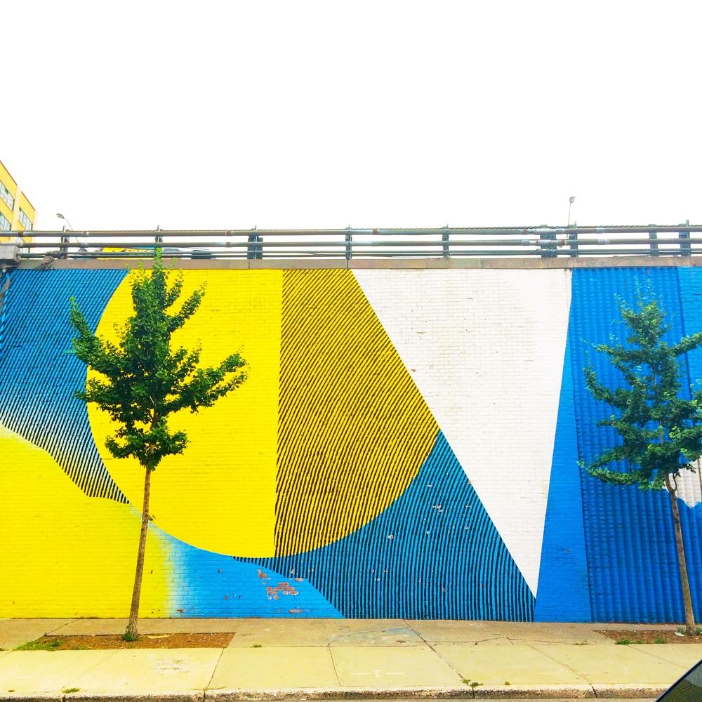 BROOKLYN A wall in DUMBO
