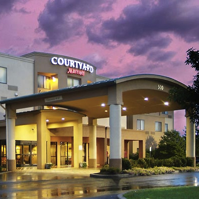 COURTYARD MARRIOTT A dependable option in Kingston, 30 mins away from the venue. There's a 2 night min. $289/per night.