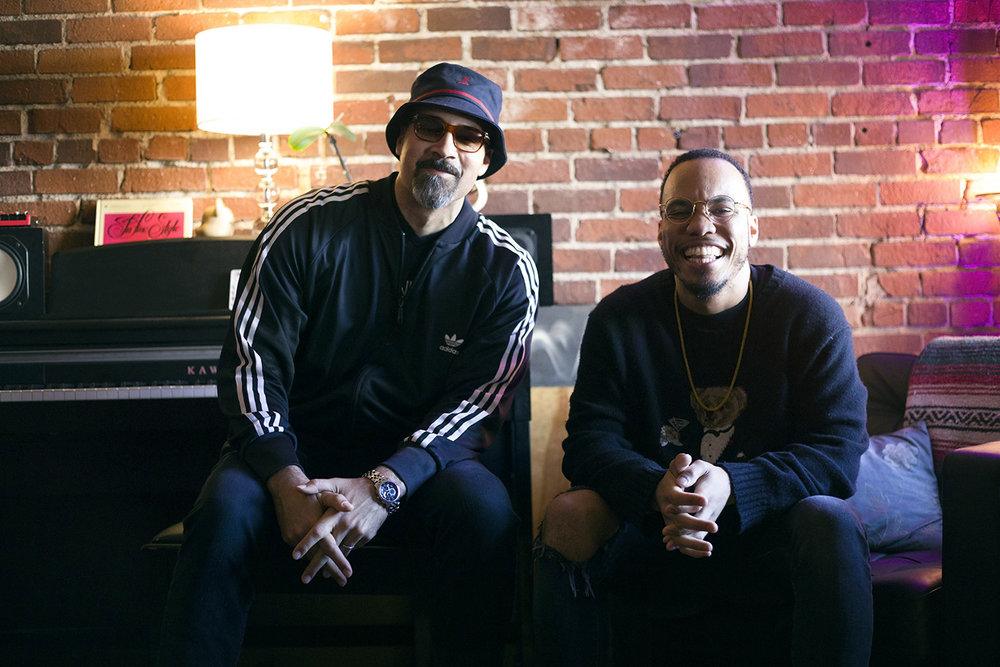 On set with Garth Tinidad and Anderson Paak.  Photo by Aldo Chacon