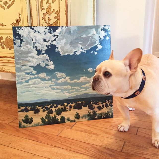 This baby's taking a little field trip with me to the printer! Just the painting, not the Frenchie. Details, sizes and pricing will be posted in my store soon (link in profile).