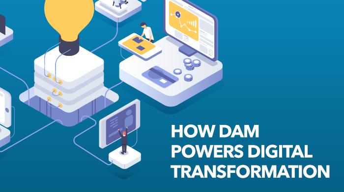 Digital transformation, digital asset management, DAM