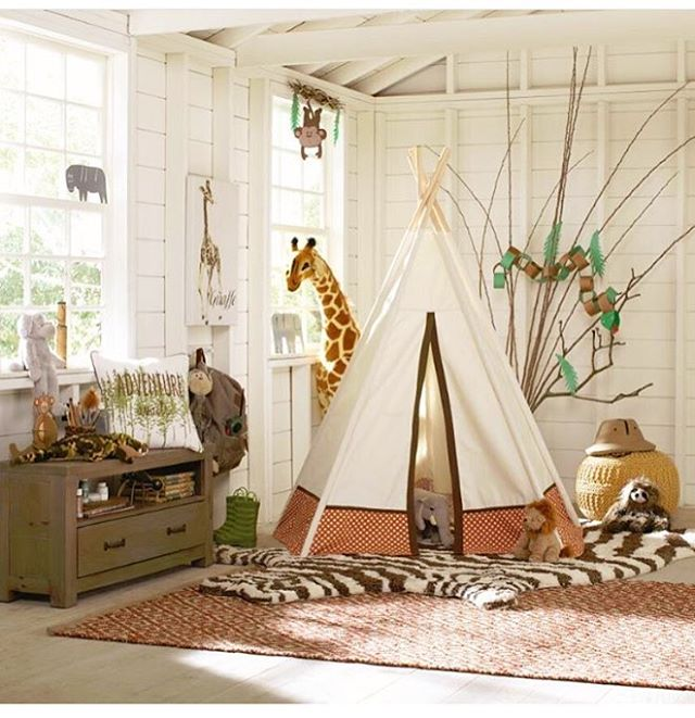 @birchlane 💛 Where imagination takes you #adventure #safari #birchlane #birchlanekids #teepee #imagination #indoorcamping #nursery #playroom #interiordesign #homedecor #sleepover #dextonkids