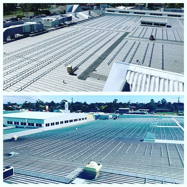 Day 20 of our largest commercial solar project to date and we are now ready for panels. Watch this space as our first day back on site in 2018 will come with 1800 solar panels being craned onto the roof. #commercialsolar #solarpower