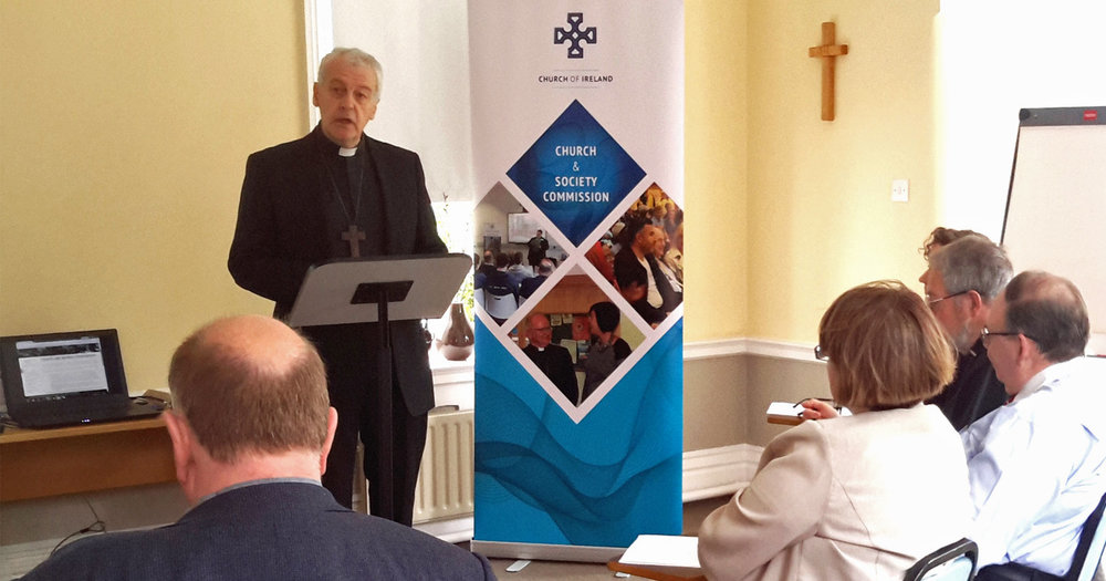 The Most Revd Dr Michael Jackson, Archbishop of Dublin, introduces the seminar.