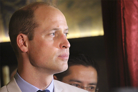Prince William on a tour of the Church of the Holy Sepulchre, Jerusalem (Photo: ACNS)