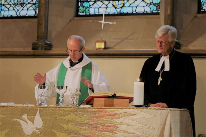 Archbishop Justin Welby and Bishop Heinrich Bedford-Strohm in the Chapel of Lambeth Palace [Photo: Lambeth Palace]