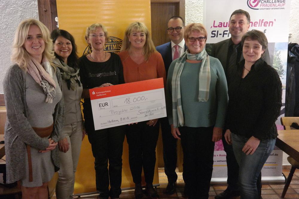18.000 Euro wurden aus den Erlösen des Challenge Frauenlauf an regionale Organisationen ausgeschüttet.
