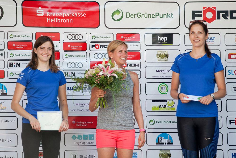 Siegerehrung der Läuferinnen