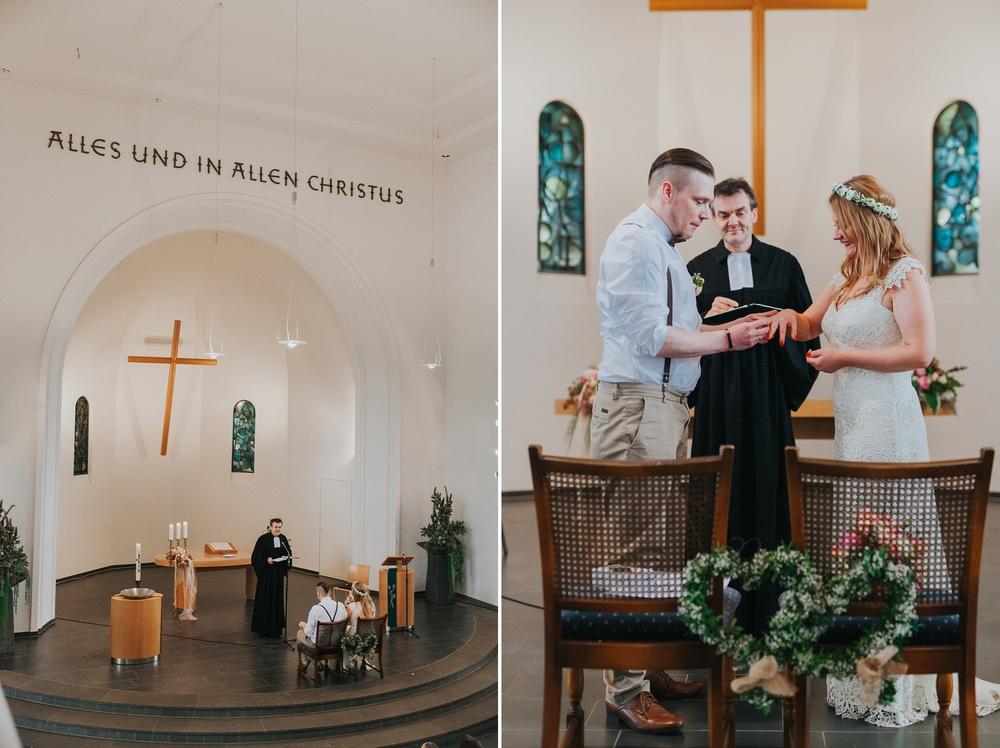 Als Hochzeitsfotograf bei einer romantische kirchliche Hochzeit in Solingen