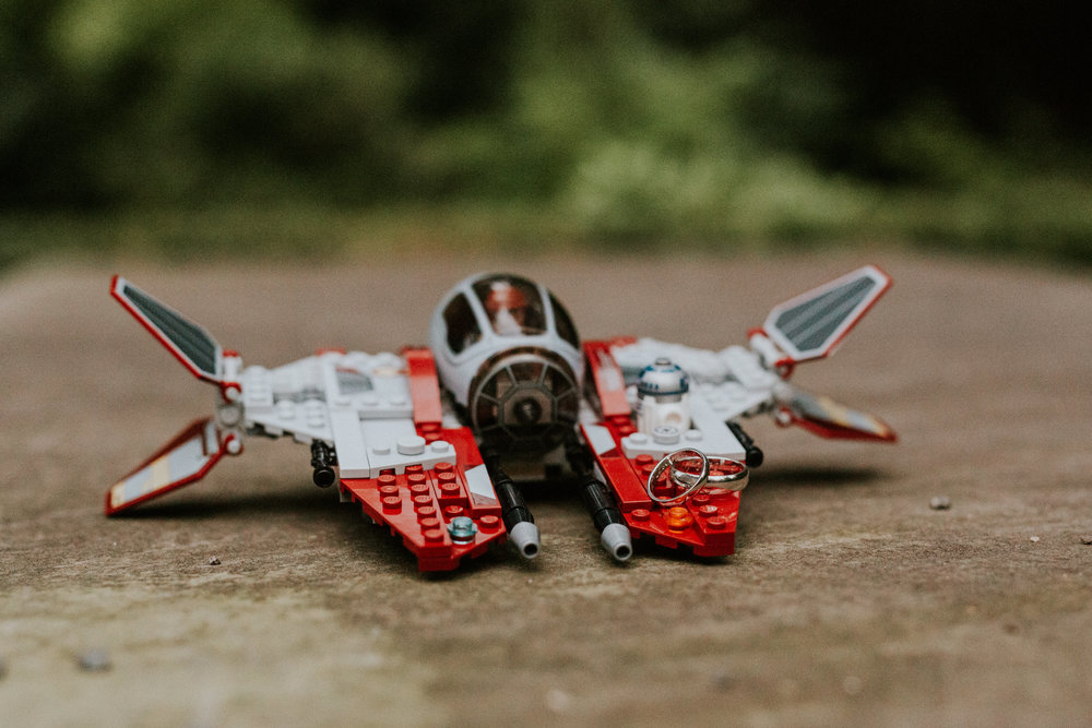 Star Wars Hochzeit - Ringfoto