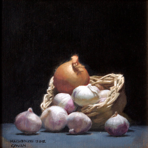 Garlic Basket and Onion