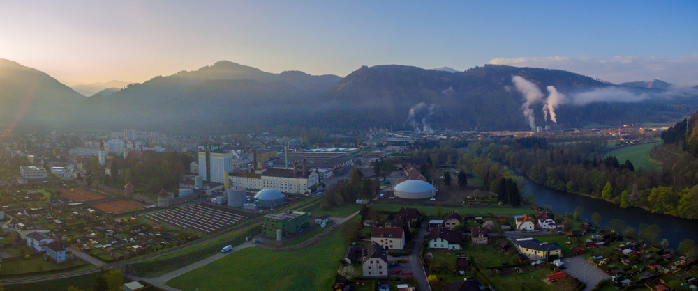 The Gosser brewery in the heart of the Austrian town
