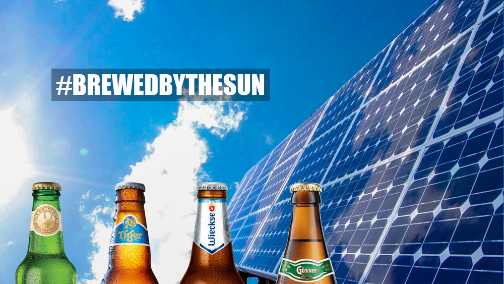 Heineken's range of #BrewedByTheSun brands