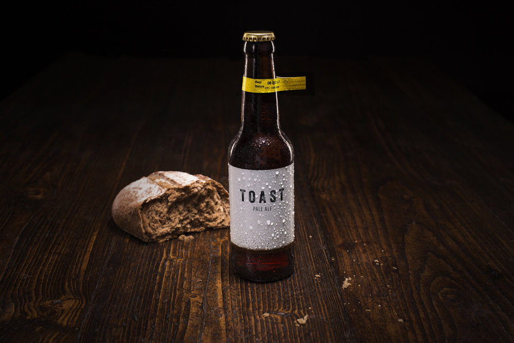 Perfect bedfellows: Toasted bread and beer