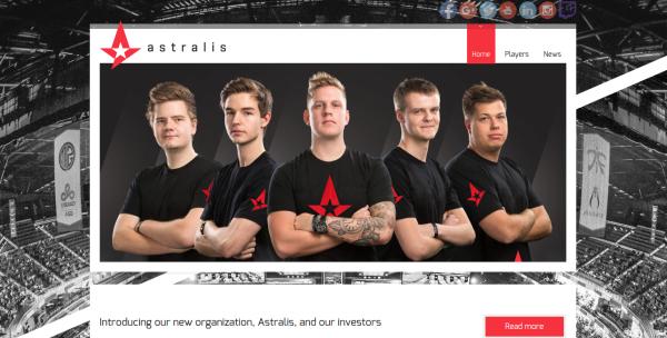Danish eSports team Astralis