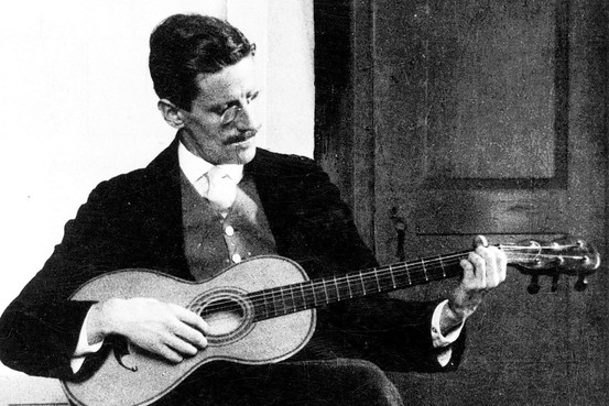 James Joyce being creative.