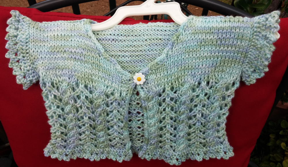 Kathy's Lace and Cable Cardigan