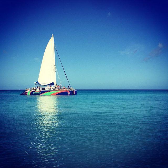 Catamaran day. Bottle of beer. Bit of lunch. Bit of reggae. Sorted. #catamaran #barbados #barbados2017 #carribean #sea #sailing #bluesky #bluesea #boat #jammincatamaran #jammin #privatecharter #reggae #banksbeer #incentivetrip #incentives #eventplanner #eventprofs