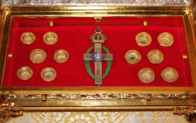 Close up of the relics