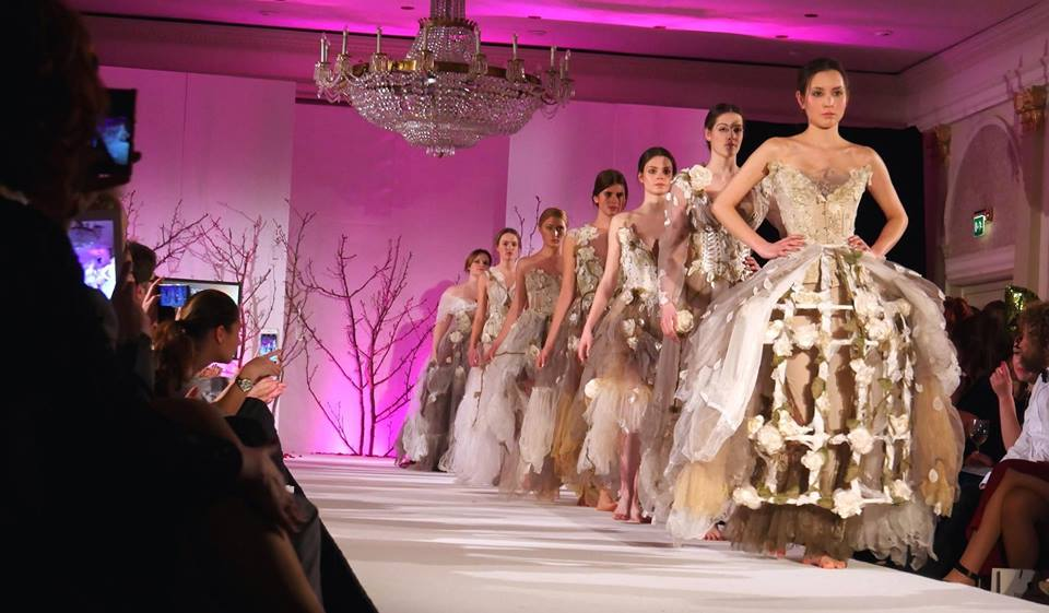 Image from Oxford Fashion Week's Couture Show, Wild Roses Collection by Rosie Red Corsetry & Couture ❤