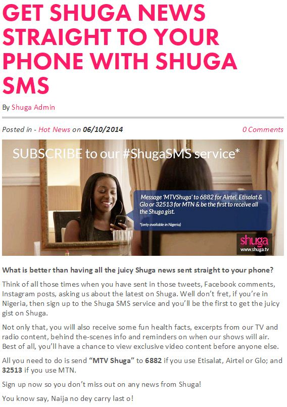 Get Shuga News Straight To Your Phone With Shuga SMS.JPG