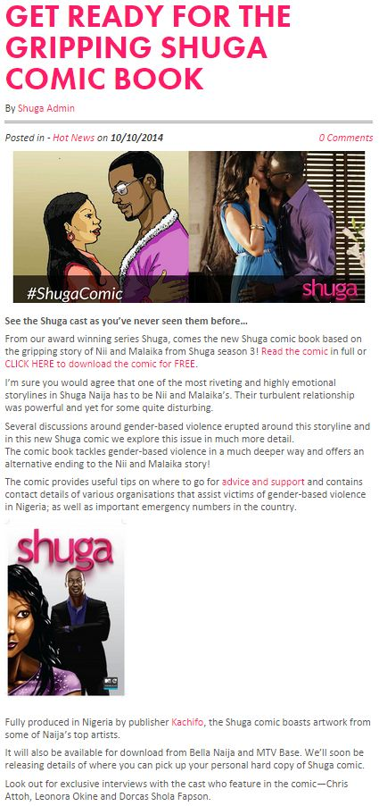 Get Ready For The Gripping Shuga Comic Book.JPG