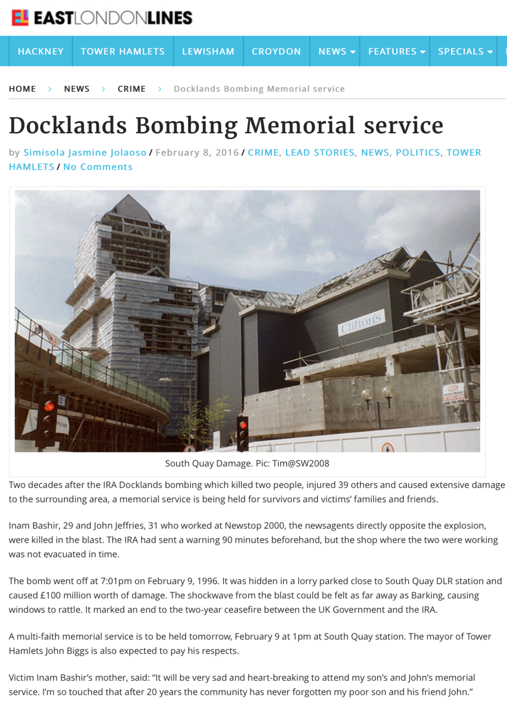 Docklands Bombing Memorial ELL Article pg1.png