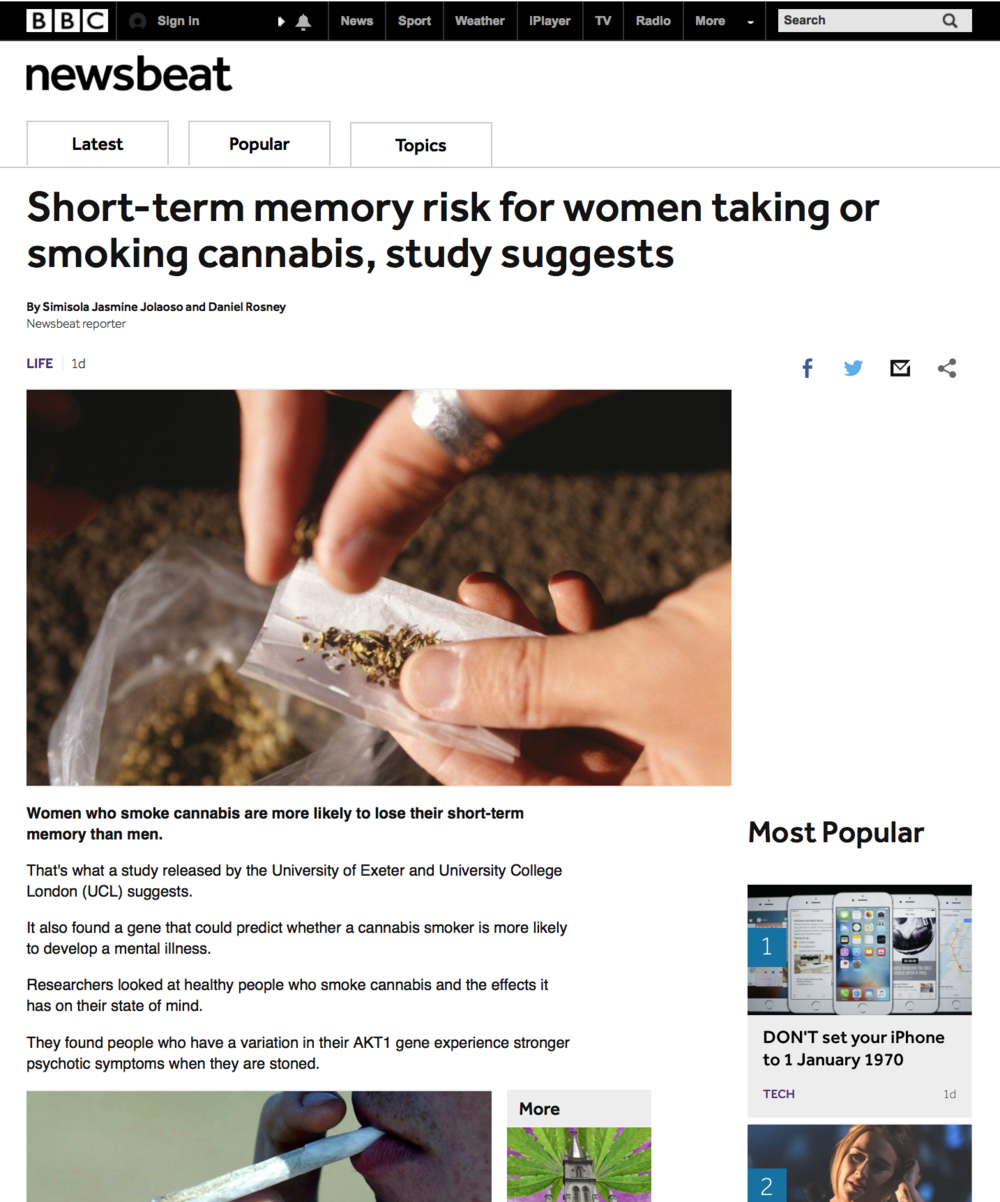 BBC Newsbeat Article Women and Marijuana pg1.png