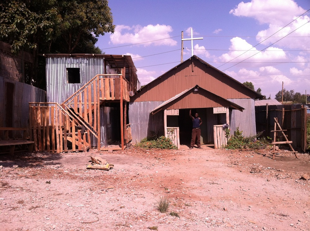 Halfway Home next to church sanctuary