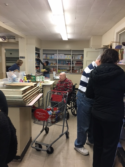 Getting ready to open (Watertown Food Pantry)