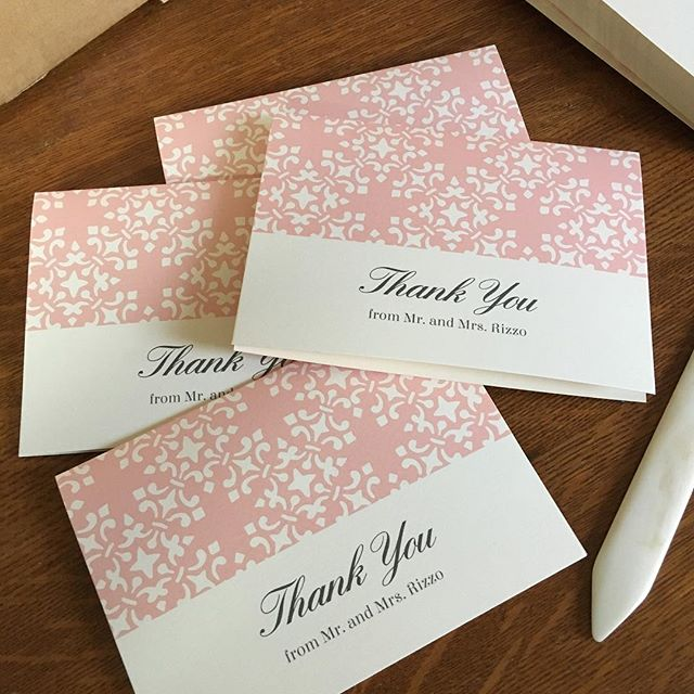 Hand folding lots of thank you cards for a newly finished wedding suite! #dallasgraphicdesigner #invitationdesign