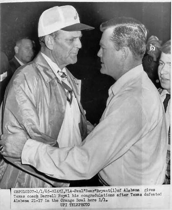 Bear Bryant and Royal