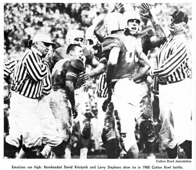 syracuse game 1960 David Kristynik imploring defense to stop Styracuse offense.jpg
