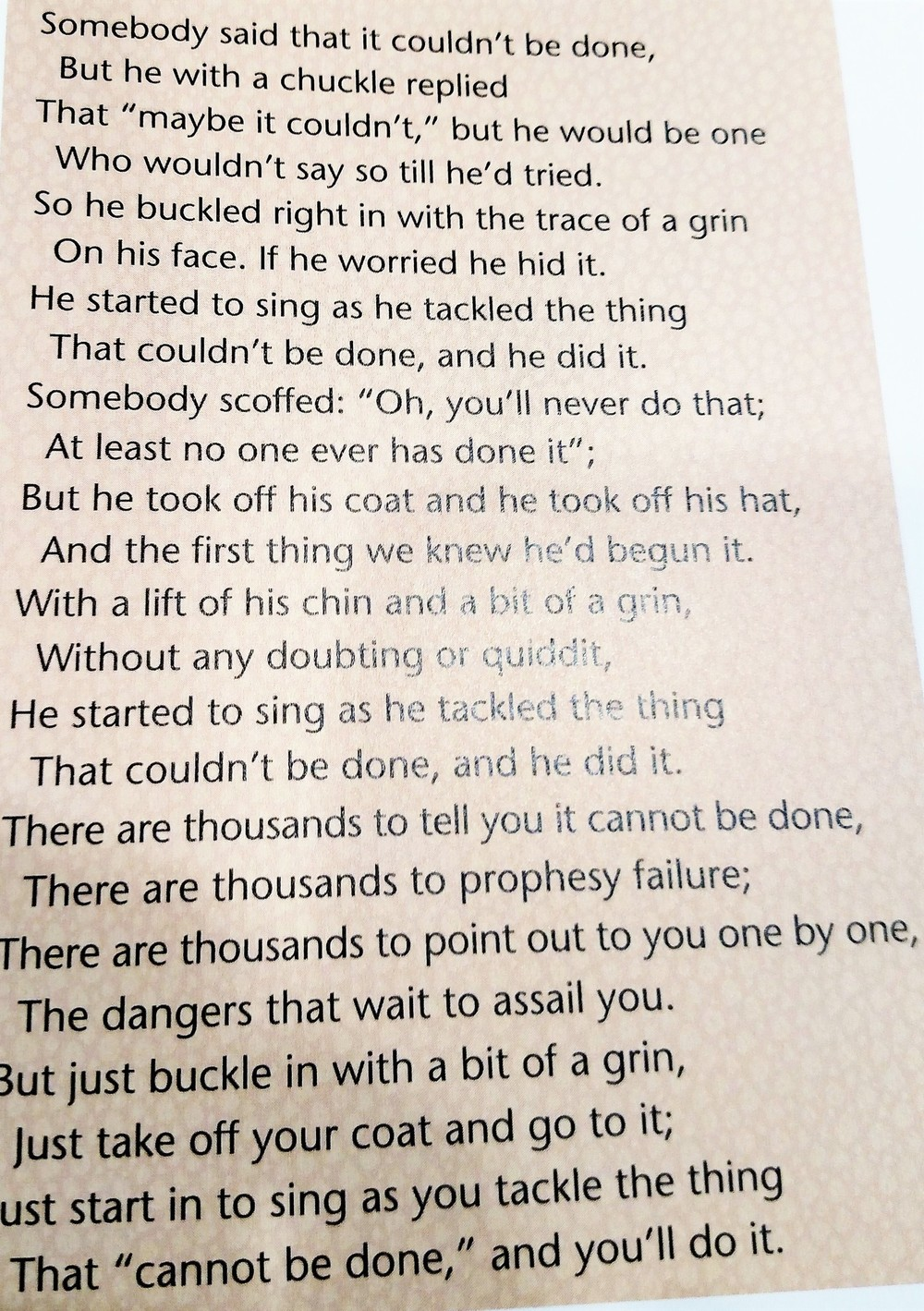 Bible's inspirational poem to his players before playing A & M