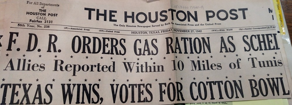 WWII and Texas FootballGet equal billing -