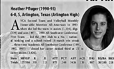 Heather Pfluger- All American